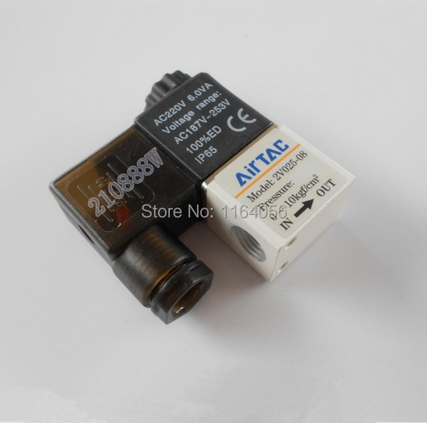 "1x 2V025-08 12V DC 2Port 2Pos 1/4"" BSP Normally Closed Solenoid Valve Coil Led(China (Mainland))"