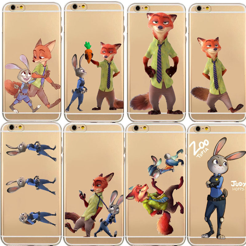 TPU Silicon Cover Despicable Zootopia Fox font b Case b font For Apple iPhone 5C 5S