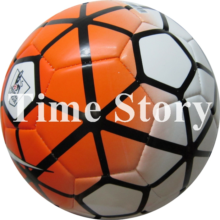 2015 Hot Sale Premier League Soccer Ball TPU Mechanically Stitched Football Official Weight Size 5 Soccer Balls Match Training(China (Mainland))