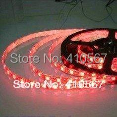 GQ company Free shipping 5050 red light strip 12v flexible SMD 5050 led strip light 300led/5m 60led/m Non waterproof(China (Mainland))
