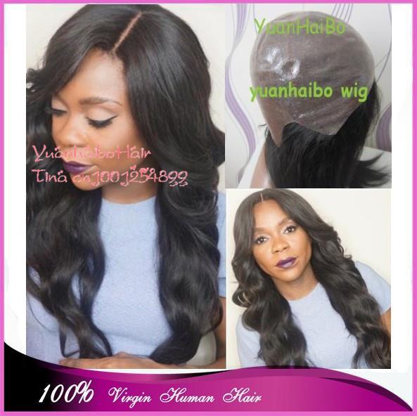 """Fashion Top Quality! 20"""" #1b virgin brazilian body wave full pu cap thin skin wig for women free shipping(China (Mainland))"""