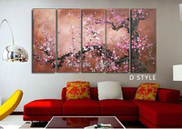 The Plum Blossom Canvas Painting100% Handmade Modern Abstract Oil Painting on Canvas ,Chinese Flower Oil Painting JYJLV201
