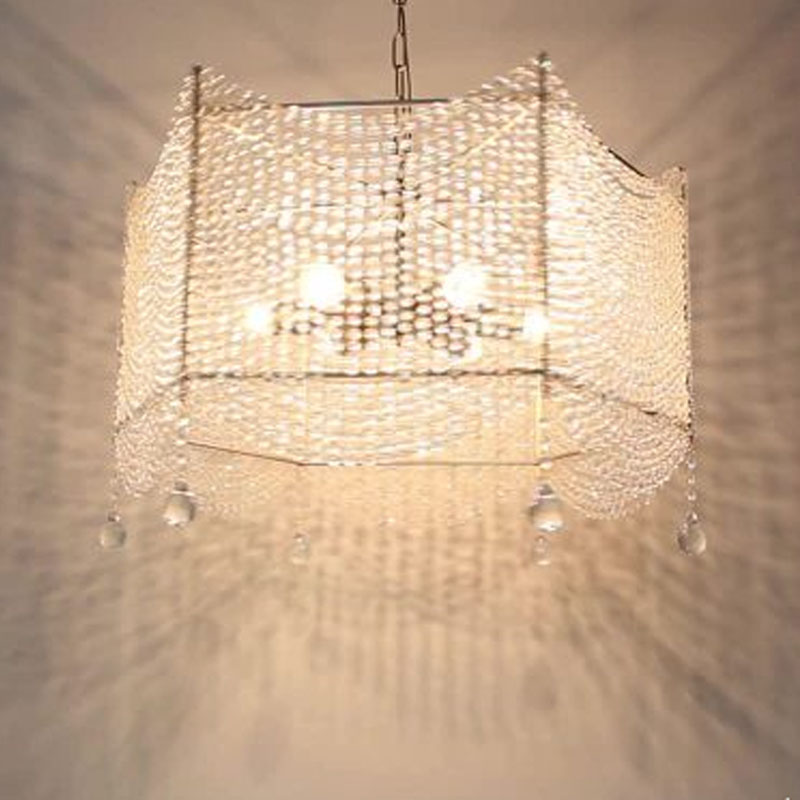 American style retro crystal chandelier simple wrought iron lamps Nordic IKEA restaurant Korean living room bedroom Europea led(China (Mainland))
