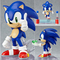 New 4 10cm PVC Blue Cute Super Sonic the Hedgehog Vivid Nendoroid Action Toy Figures Series