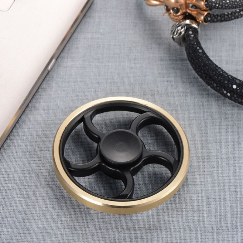 New Fingertip Gyro Decompression Fidget spinner Copper Five Leaf Stent EDC Tool Fidget Spinner Hand Anxiety Stress Relief Toys