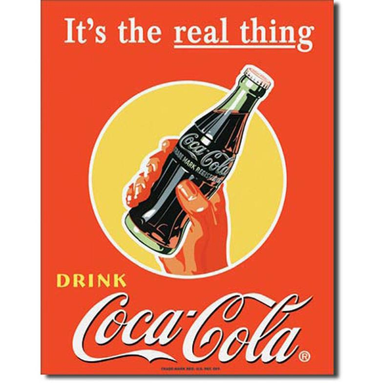 2014 Hot Sale TIN Sign Coke Real Thing - Bottle Prints high quality movie style custom poster 50x75cm(China (Mainland))