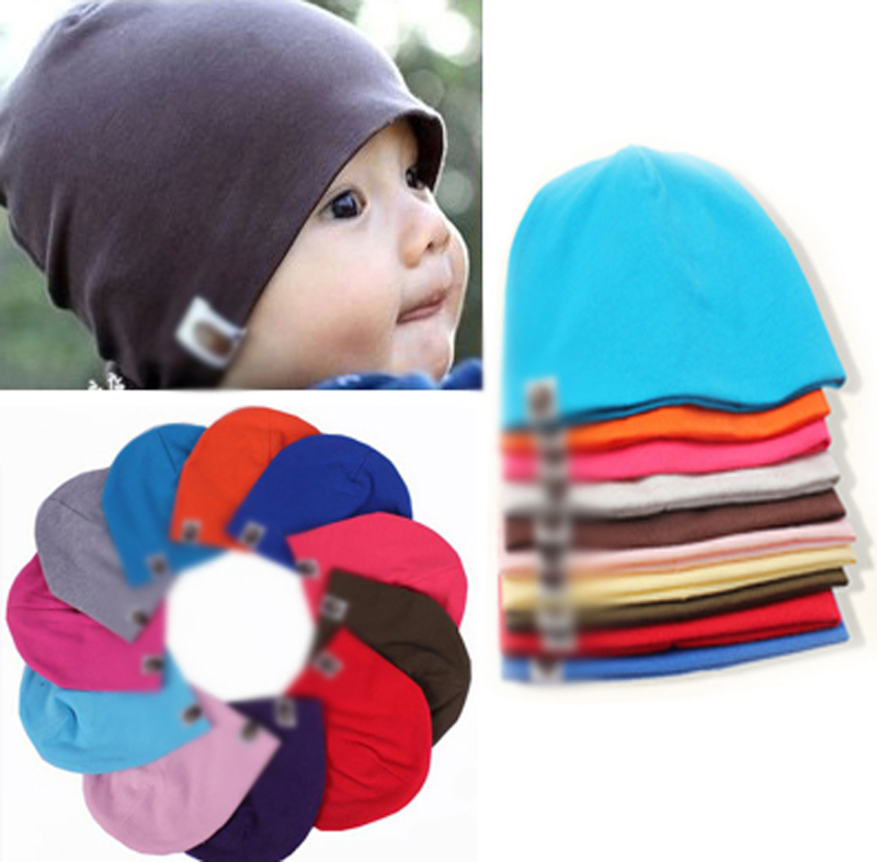 Baby Hat Baby Cap Cotton Caps for Newborn Infant Toddlers Kids Boys Girls Candy Color Newborn Photography Props Touca Casual(China (Mainland))