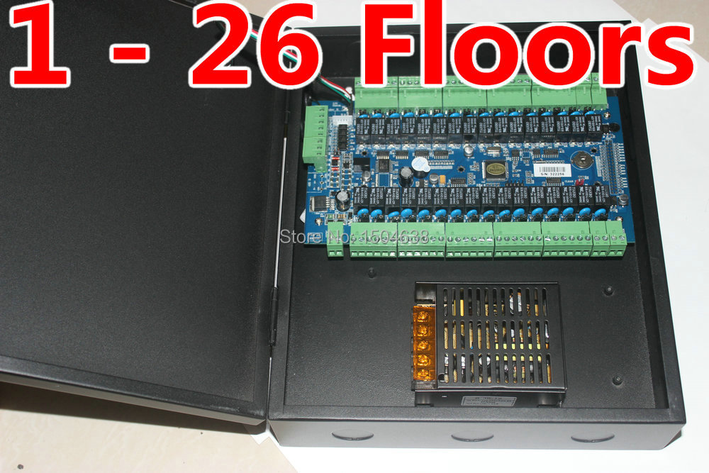 1- 26 Floors Controllin Elevator Controlller Access Control SYSTEM+ LIFT CONTROLLER SOFTWARE RS485 PORIS Office Elevator System(China (Mainland))