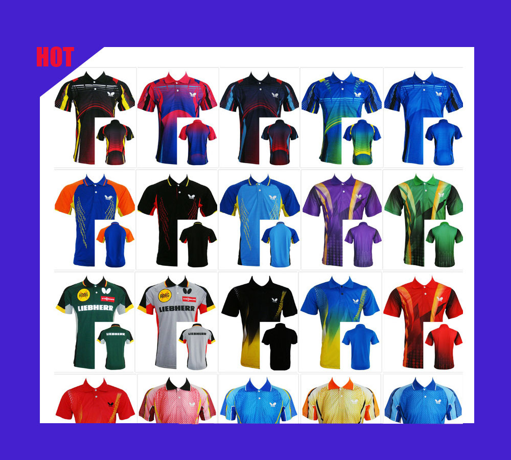 Free Shipping!!! New Arrive 2015 Table Tennis Butterfly Shirt Clothing Sportswear Game Sportswear Short Sleeve(China (Mainland))