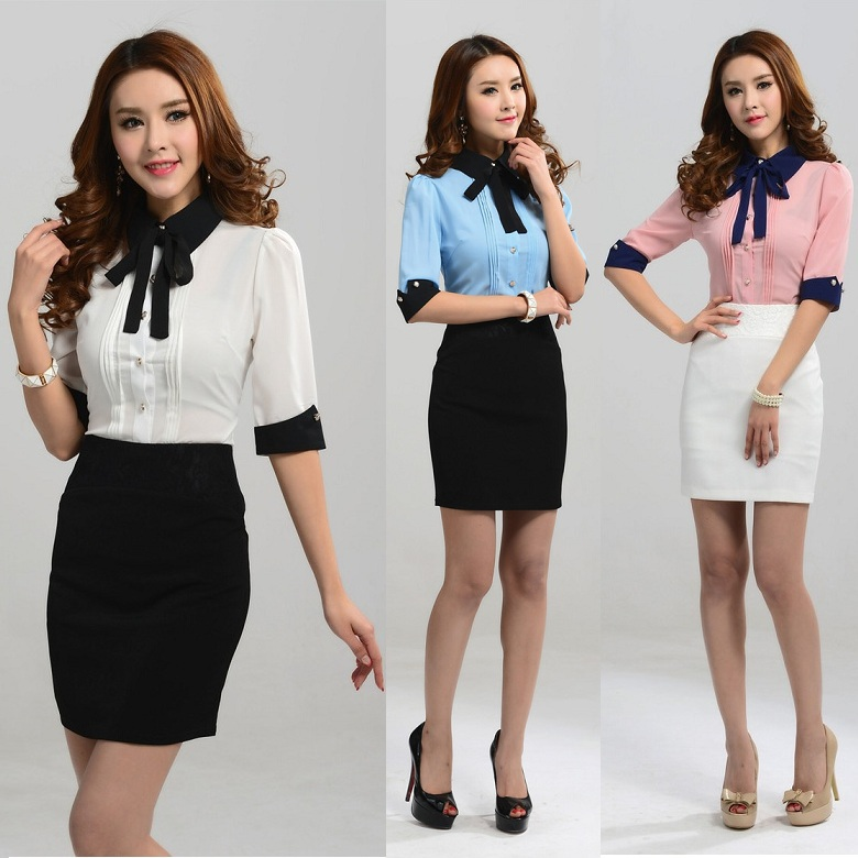 New 2015 spring summer formal office uniform designs women for Office uniform design 2016