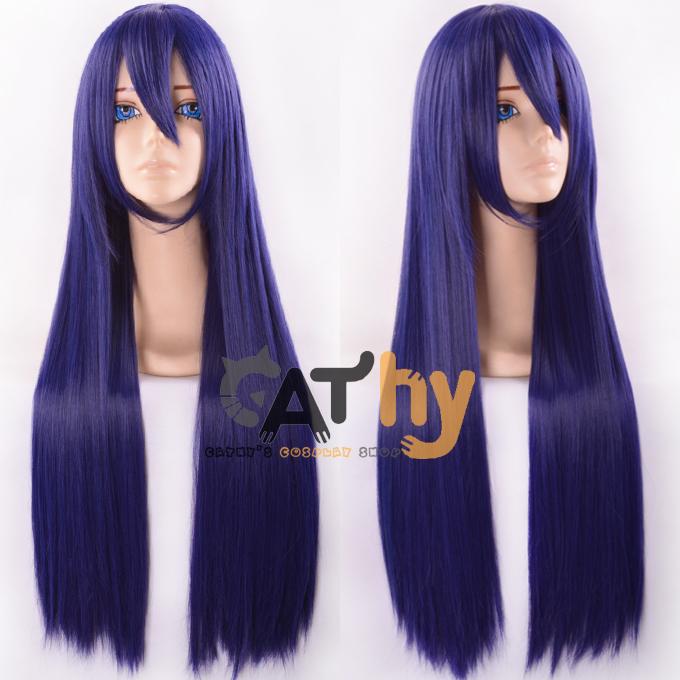 Anime Love Live LoveLive! Sonoda Umi 80cm wigs long dark blue cosplay Maizono Sayaka wig Halloween Cos Heat Resistant + Hairnet<br><br>Aliexpress