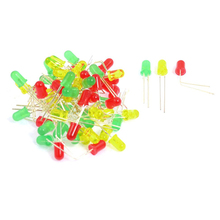 New Gift Arrive promotion 60Pcs 3mm Dia Round Assorted Color LED Light Emitting Diode Lamp DC 3V(China (Mainland))