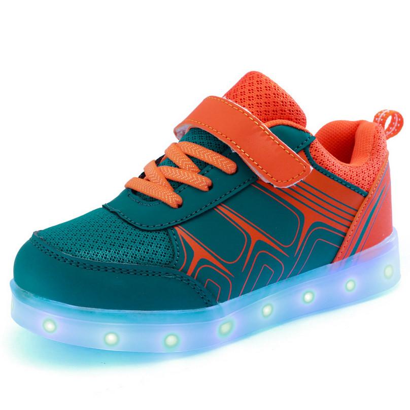2016 Spring Children Shoes Light Boys Girls Chaussure USB Lumineuse Enfant Gar Kids Led Linght Sneakers