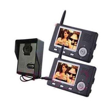 "3.5""Screen 2.4G video door phone intercom home Wireless Video Door Phone with CMOS Sensor and Portable Video Monitor 1 to 2"