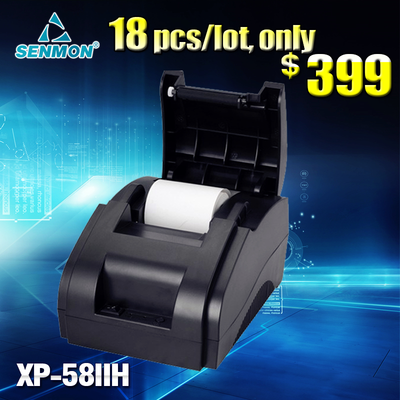 Wholesale -18pcs/lot 58mm thermal receipt printer XP-58IIH POS 58mm Thermal Receipt Printer (USB) POS printer