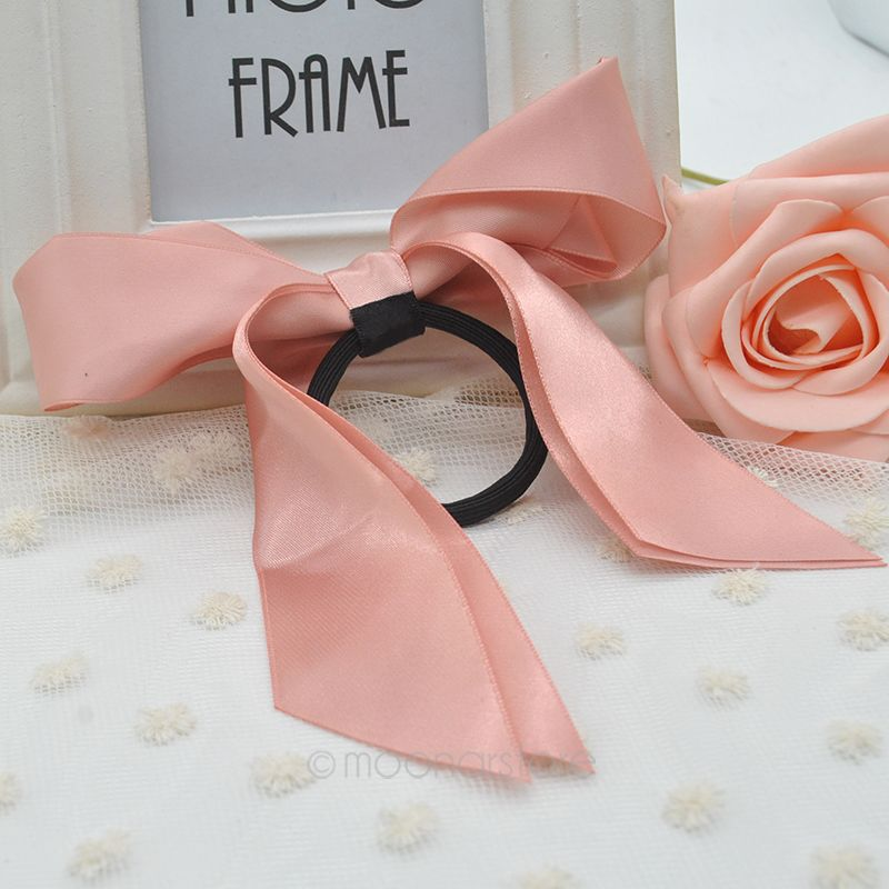 Fashion Hair Accessories Women Ribbon Bow Hair Band Scrunchie Ponytail Holder Multi Color Hair Tie Rope FYMHM030#Y5(China (Mainland))