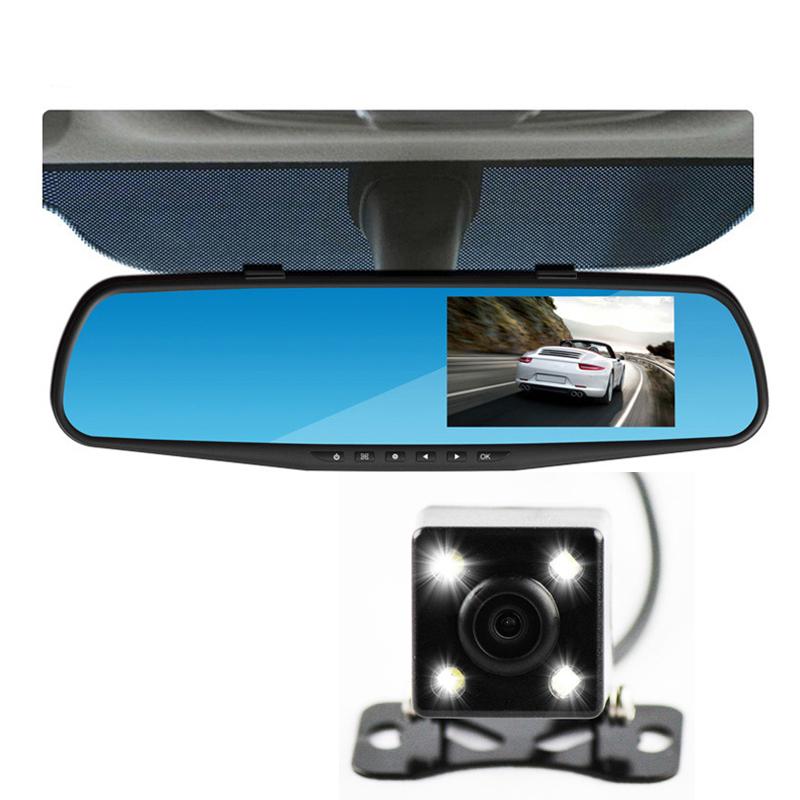 car camera rearview dual lens mirror auto dvrs cars dvr parking video recorder registrator dash cam full hd 1080p night vision(China (Mainland))