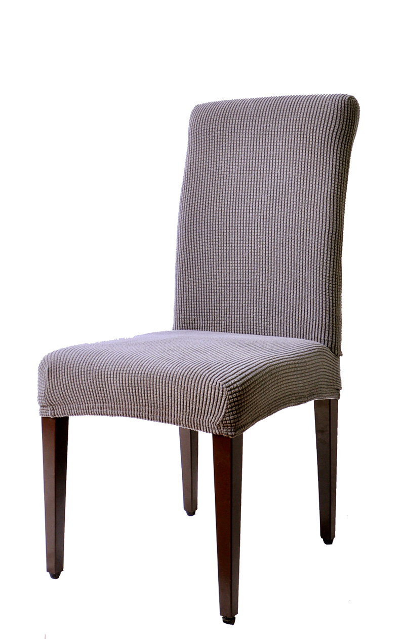 Dining Room Jacquard Checks Solid Chair Covers Spandex Fabric Chair Slipcovers for wedding Hotel Banquet Party 4-piece(China (Mainland))