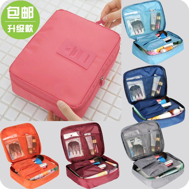 New 2014 Nylon Multifunction Make up Organizer bag Women Cosmetic bags Ourdoor Travel Bag Handbag Bolsas Free shipping(China (Mainland))