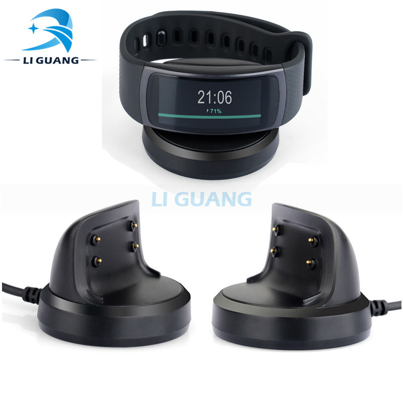 Wristwatch Smartwatch USB Charging Cable Cradle Charger Dock Station for Samsung Gear Fit 2 Band Fit2 R360 Smart Watch