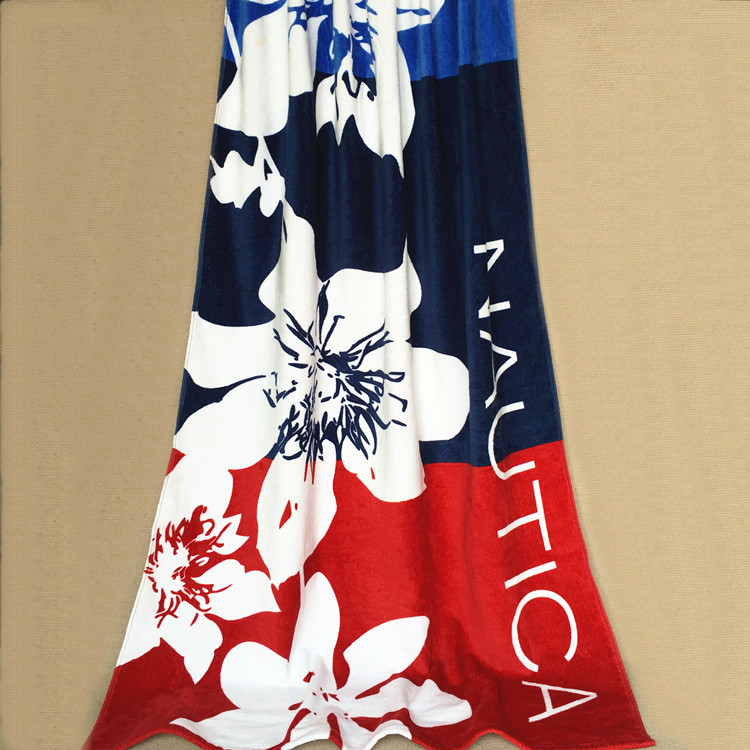 free shipping extra large size 166*92cm 100% cotton European and American style big flower patter bath beach towel for men(China (Mainland))