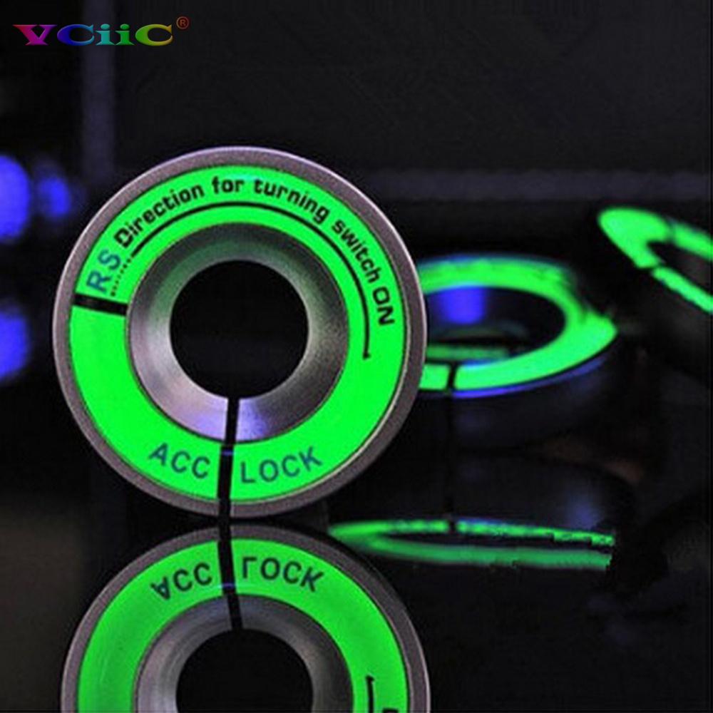 Luminous Glow ignition switch decoration Key Ring Sticker for skoda Octavia Fabia YETI vw passat Bora POLO GOLF 6 Jetta MK5 MK6(China (Mainland))