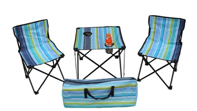 Camouflage three piece outdoor folding portable picnic - Camping picnic table and chairs ...