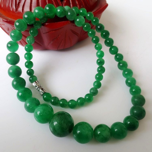 Natural green stone necklaces women gem necklace beads necklaces stone tower jewelry accessories chain gifts 065