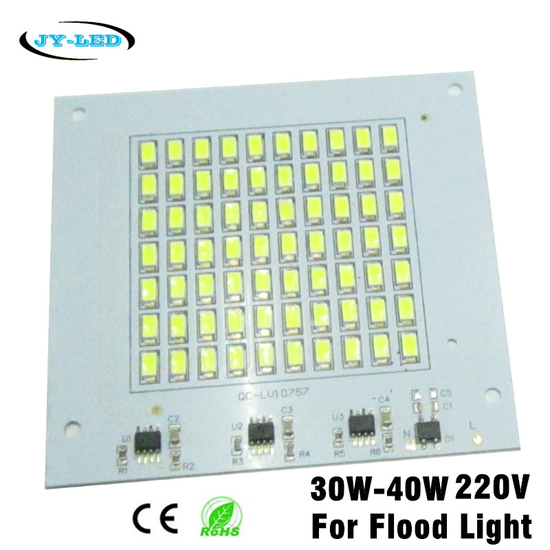 10pcs 30W 40W 220V Flood Light LED PCB SMD5730 Lamp Plate, Integrated IC Driver, Directly Needn't Driver Light Source Panel(China (Mainland))