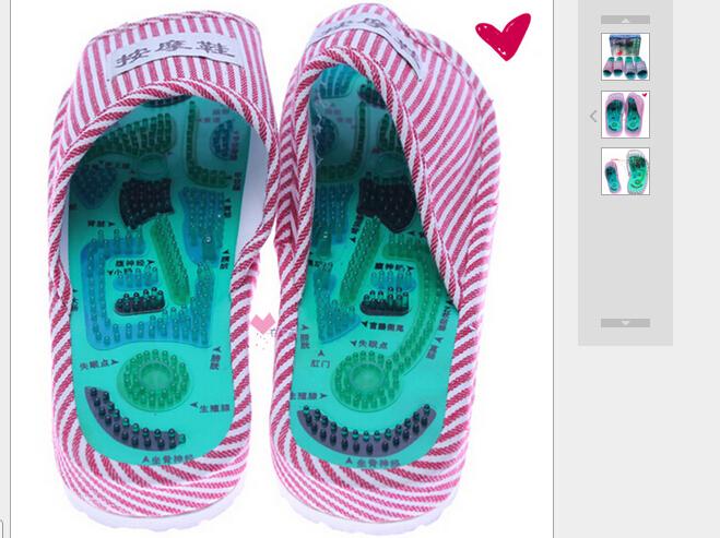 Authentic foot god tai chi acupoint massage shoe magnets massage slippers Foot care massage, foot massage machine(China (Mainland))