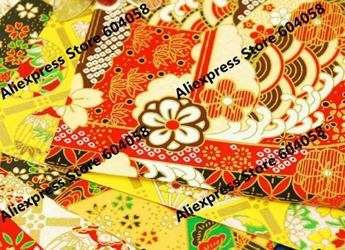 "11""x8"" (27x19cm) yuzen style print paper chiyogami washi paper for Scrapbooking, origami, crafts"