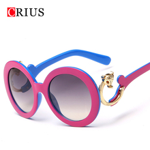 2016 new womens sunglasses for women sun glasses summer style round vintage Classical Animal brand designer Alloy frame(China (Mainland))