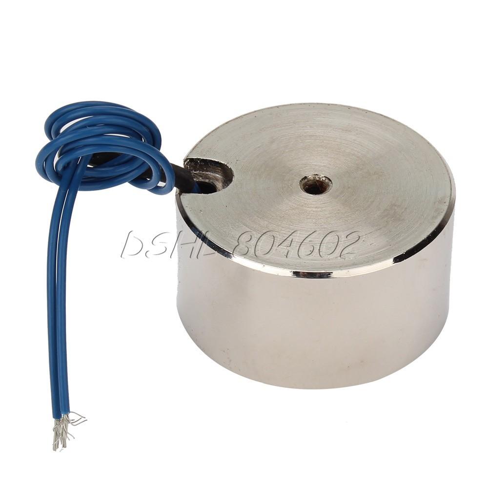 Гаджет  Metal 50kg Electric Lifting Magnet Holding Electromagnet 12V DC 500N None Электронные компоненты и материалы