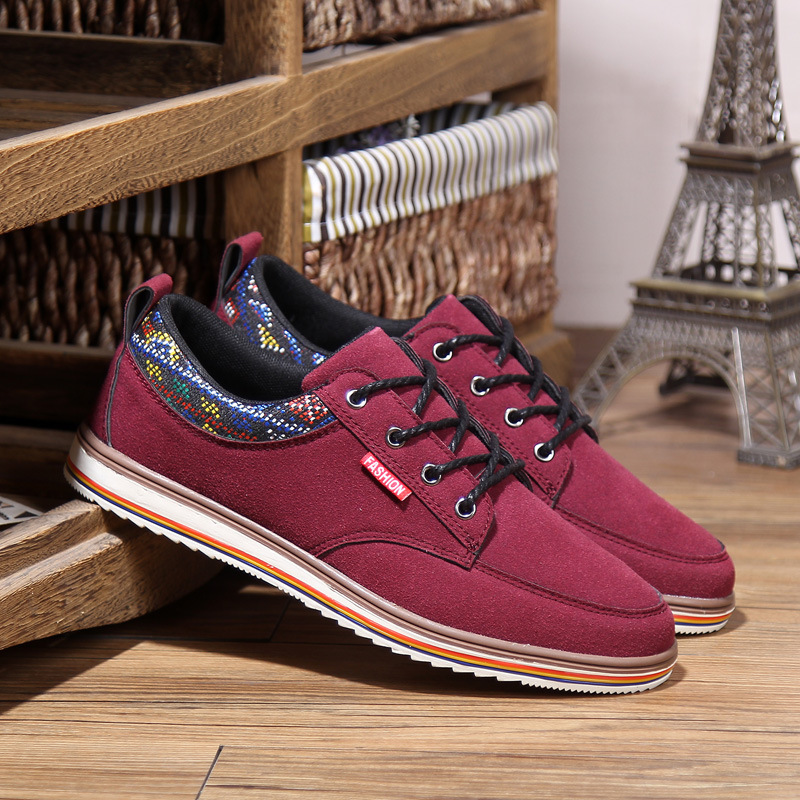 2015 new men's shoes matte leather breathable color at the end fashionable casual shoes autumn paragraph shoes factory outlets(China (Mainland))