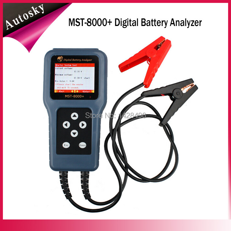 2015 New MST-8000+ Digital Battery Analyzer MST-8000 Car Battery Analyzer MST 8000 Support 12V or 24 V Automotive Battery Tester(China (Mainland))