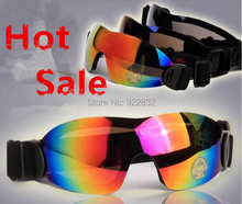 Hot 2014 Winter Outdoor Sports Skiing Goggles Anti-UV400 Sunglasses Motorcycle Anti- Dust Glasses Snowboarding Goggles