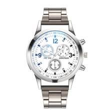 Unisexe Unique horloge militaire Top nouvelle mode montre à Quartz hommes en acier inoxydable homme montres relogio masculino(China)