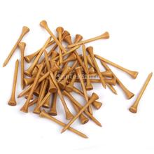 Professional Wooden Golf Tees 83MM Long 100Pcs Burlywood Free Shipping(China (Mainland))