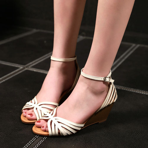 ENMAYERsummer gladiator sandals women fashion lady dress beige real genuine leather shoes woman thick heels sandals shoes<br><br>Aliexpress