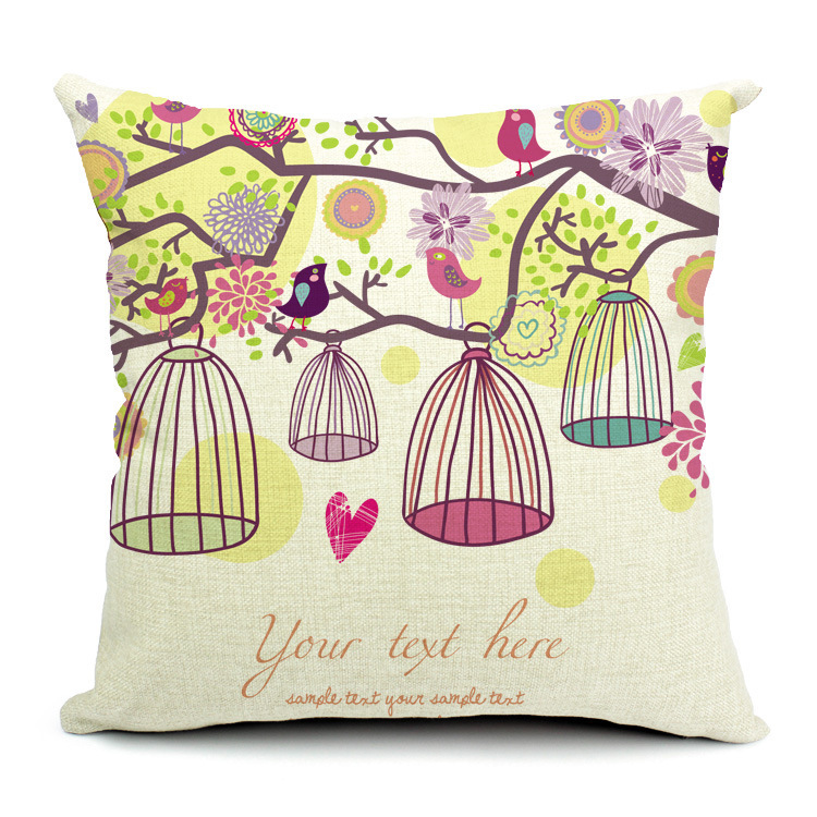 Decorative throw pillows birdcage design cojines - Cojines decorativos para sofas ...