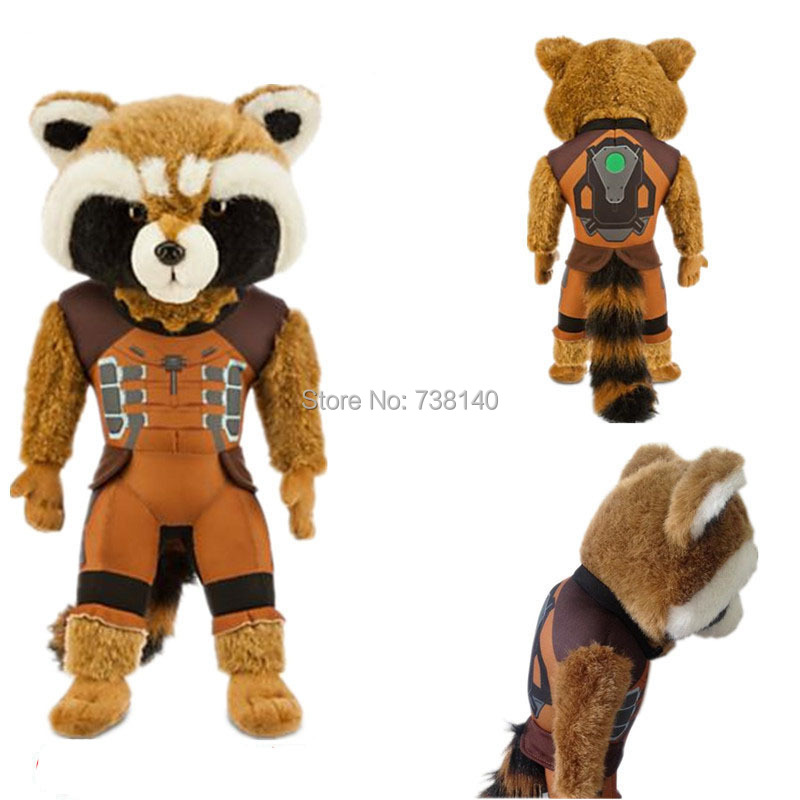 2014 hit movies authentic plush toys   the Galaxy 15-inch Rocket Raccoon doll with original  tag