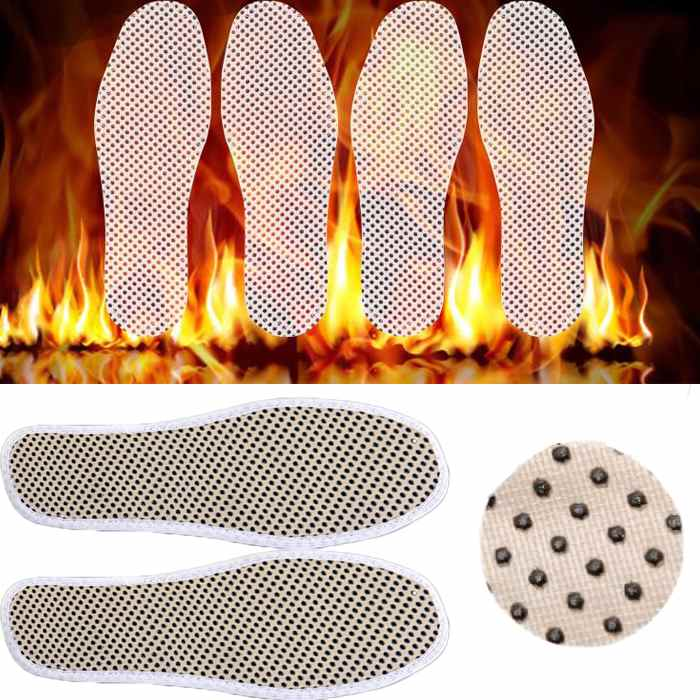 Гаджет  1Pair Foot Care Women Infrared Tourmaline Magnetic Therapy Massaging Cotton Foot Shoe Insole Warm Cushion Pads Warm Shoes Pad None Обувь