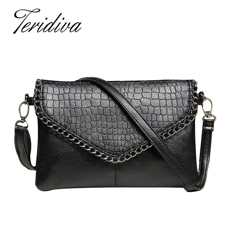 Female Handbag Designers Fashion Vintage Bags Women Shoulder Bags Crocodile Small Women Messenger Bag Crossbody Envelope