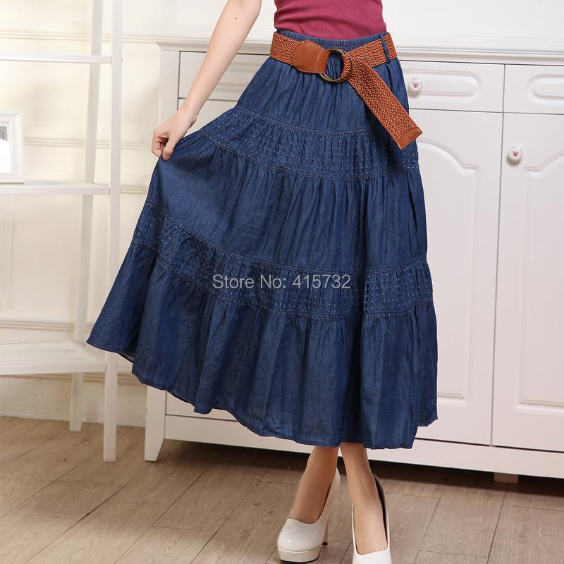 Falda de mezclilla de mujer