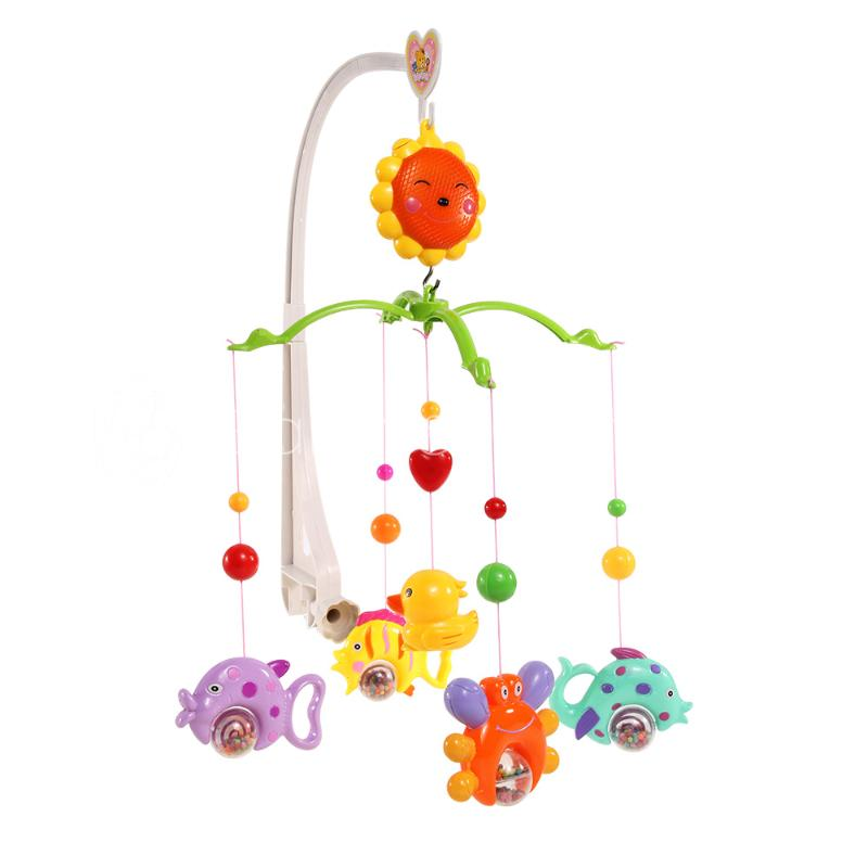 2015 New Baby Crib Bell Mobile Wind-up Music Box Cute Bed Toys Cartoon Gift Nursery(China (Mainland))