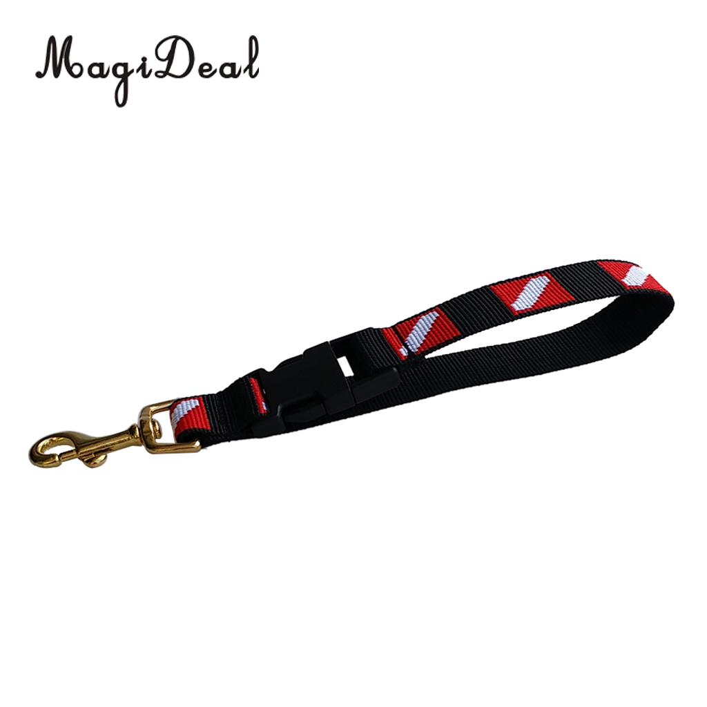 MagiDeal Universal Dive Flag Scuba Diving Gear Accessories Keeper Holder Lanyard & Safety Clip Equipment