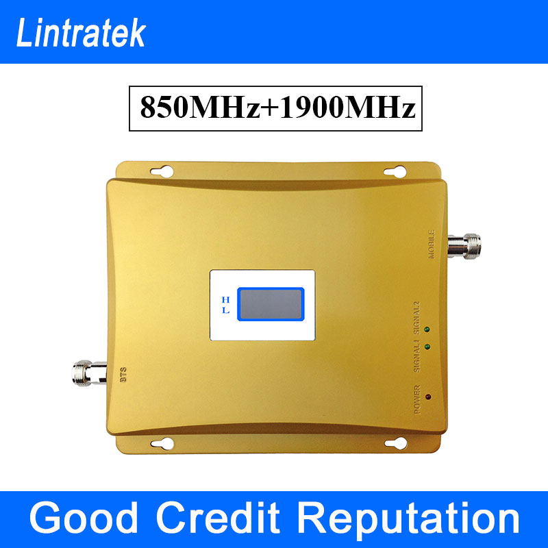 Lintratek Best Price GSM 850 1900 Amplifier LCD Signal Booster GSM 1900 Cell Phone Boosters GSM Dual Band 850 1900 Amplifier S28(China (Mainland))