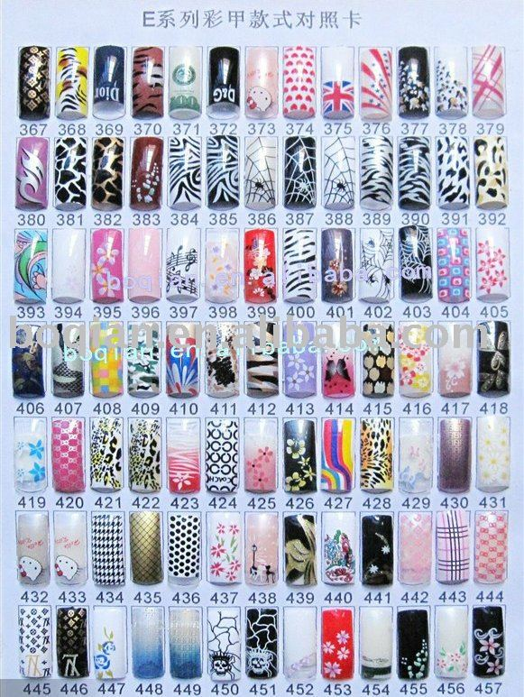 70 PCS /box AIRBRUSHED  PREDESIGN NAIL ART TIP /different styles<br><br>Aliexpress