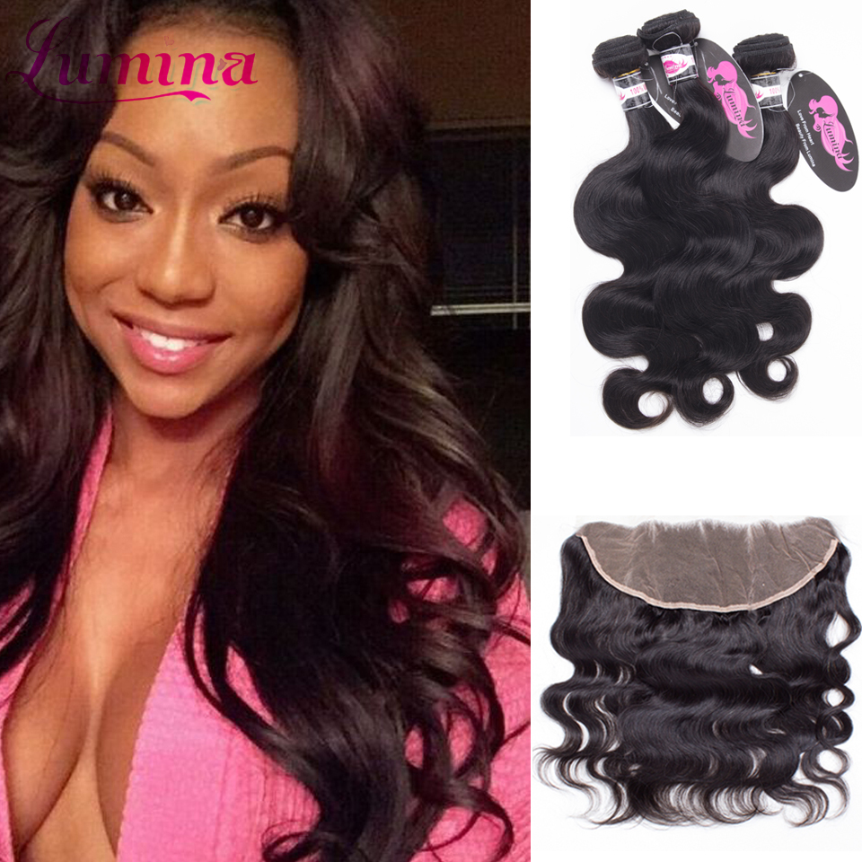 Best Selling Queen Hair Mink 7a Brazilian Body Wave Lace Frontal With Bundles Ear To Ear Lace Frontal Closure With 4 Bundles<br>