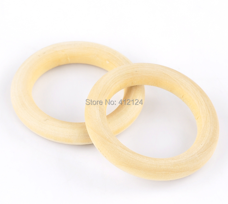 20Pcs Natural Wood Circle Ring Pendant Connectors Beads DIY Jewelry Making Findings 5.6cm Dia(2 2/8)<br><br>Aliexpress